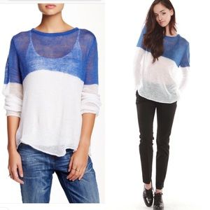 Hye Park and Lune | IO Sweater Blue/White